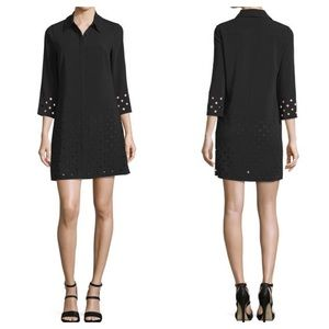 NWT Laundry 3/4-Sleeve Laser-Cut Dress